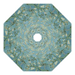 Almond Blossom Tree Folding Umbrellas by ArtMuseum