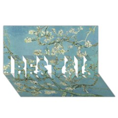 Almond Blossom Tree Best Sis 3d Greeting Card (8x4)