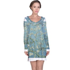 Almond Blossom Tree Long Sleeve Nightdresses