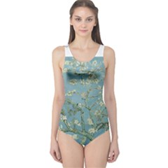 Almond Blossom Tree Women s One Piece Swimsuits