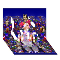 Robot Butterfly Love 3d Greeting Card (7x5)  by icarusismartdesigns