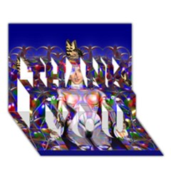 Robot Butterfly Thank You 3d Greeting Card (7x5)