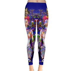 Robot Butterfly Winter Leggings by icarusismartdesigns