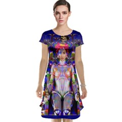 Robot Butterfly Cap Sleeve Nightdresses by icarusismartdesigns