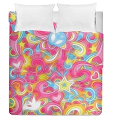 Hippy Peace Swirls Duvet Cover (full/queen Size) by KirstenStar
