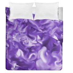Lavender Smoke Swirls Duvet Cover (full/queen Size)