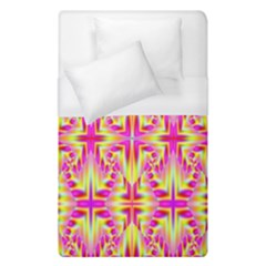 Pink And Yellow Rave Pattern Duvet Cover Single Side (single Size) by KirstenStar