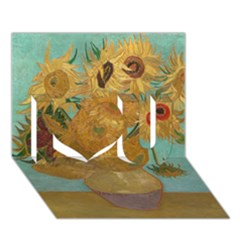 Vincent Willem Van Gogh, Dutch   Sunflowers   Google Art Project I Love You 3d Greeting Card (7x5)  by ArtMuseum