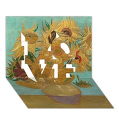 Vincent Willem Van Gogh, Dutch   Sunflowers   Google Art Project Love 3d Greeting Card (7x5)