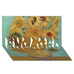 Vincent Willem Van Gogh, Dutch   Sunflowers   Google Art Project Engaged 3d Greeting Card (8x4)