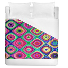 Psychedelic Checker Board Duvet Cover Single Side (full/queen Size)