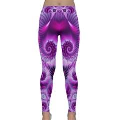 Purple Ecstasy Fractal artwork Yoga Leggings by KirstenStar