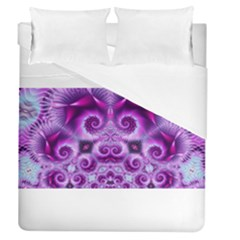 Purple Ecstasy Fractal Artwork Duvet Cover Single Side (full/queen Size) by KirstenStar