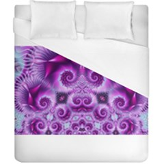 Purple Ecstasy Fractal Artwork Duvet Cover Single Side (double Size) by KirstenStar