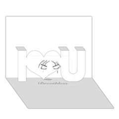 Breathless I Love You 3d Greeting Card (7x5)