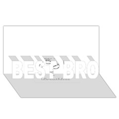 Breathless Best Bro 3d Greeting Card (8x4)