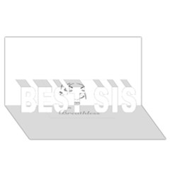 Breathless Best Sis 3d Greeting Card (8x4)  by morbidcandy