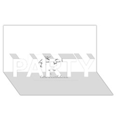 Breathless Party 3d Greeting Card (8x4)