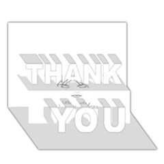 Breathless Thank You 3d Greeting Card (7x5)