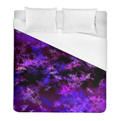 Purple Skulls Goth Storm Duvet Cover Single Side (Twin Size) by KirstenStar