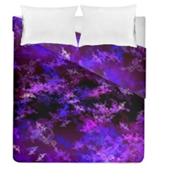 Purple Skulls Goth Storm Duvet Cover (full/queen Size) by KirstenStar