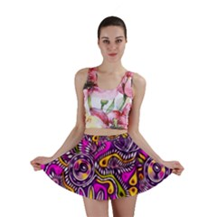 Purple Tribal Abstract Fish Mini Skirts by KirstenStar
