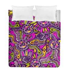 Purple Tribal Abstract Fish Duvet Cover (twin Size) by KirstenStar
