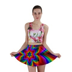 Rainbow Flower Mini Skirts
