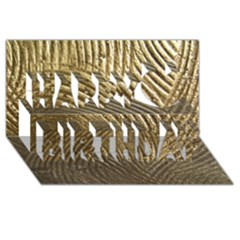 Brushed Gold 050549 Happy Birthday 3d Greeting Card (8x4)  by AlteredStates