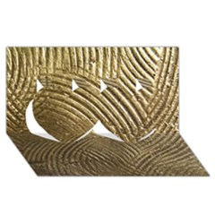 Brushed Gold 050549 Twin Hearts 3d Greeting Card (8x4)