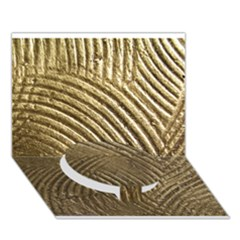 Brushed Gold 050549 Circle Bottom 3d Greeting Card (7x5)  by AlteredStates