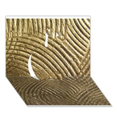 Brushed Gold 050549 Apple 3d Greeting Card (7x5)  by AlteredStates