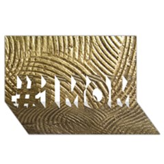Brushed Gold 050549 #1 Mom 3d Greeting Cards (8x4)  by AlteredStates
