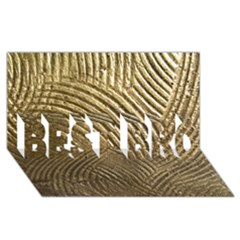 Brushed Gold 050549 Best Bro 3d Greeting Card (8x4)  by AlteredStates