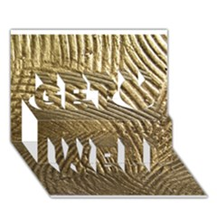 Brushed Gold 050549 Get Well 3d Greeting Card (7x5)  by AlteredStates