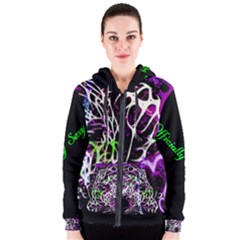 Officially Sexy Panther Collection Purple Women s Zipper Hoodie by OfficiallySexy