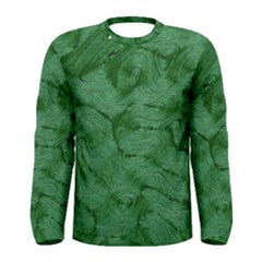 Woven Skin Green Men s Long Sleeve T Shirts