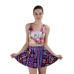 Stained Glass Tribal Pattern Mini Skirts by KirstenStar