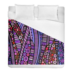 Stained Glass Tribal Pattern Duvet Cover Single Side (twin Size) by KirstenStar