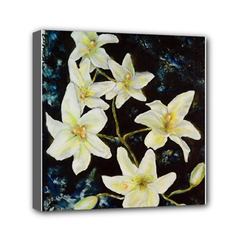 Bright Lilies Mini Canvas 6  X 6  by timelessartoncanvas