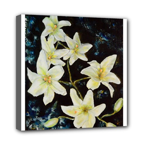 Bright Lilies Mini Canvas 8  X 8  by timelessartoncanvas