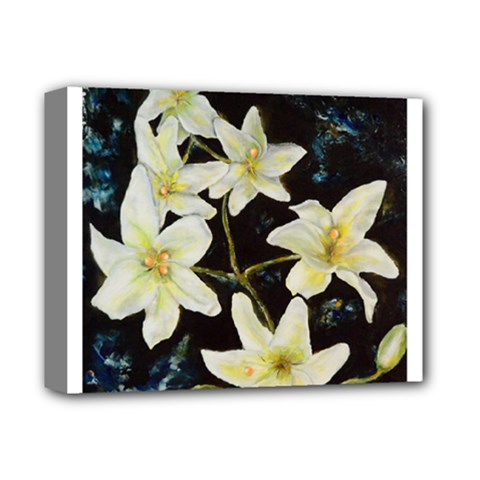 Bright Lilies Deluxe Canvas 14  x 11  by timelessartoncanvas