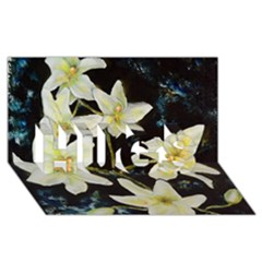 Bright Lilies Hugs 3d Greeting Card (8x4)  by timelessartoncanvas