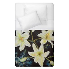 Bright Lilies Duvet Cover Single Side (Single Size) by timelessartoncanvas