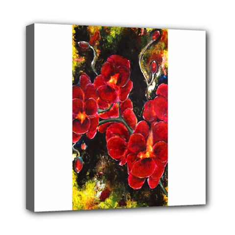 Red Orchids Mini Canvas 8  X 8  by timelessartoncanvas