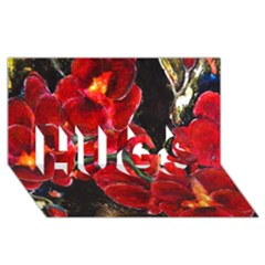 Red Orchids Hugs 3d Greeting Card (8x4)  by timelessartoncanvas