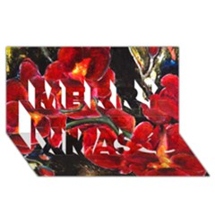 Red Orchids Merry Xmas 3d Greeting Card (8x4)  by timelessartoncanvas