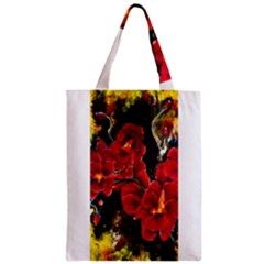 Red Orchids Zipper Classic Tote Bags by timelessartoncanvas