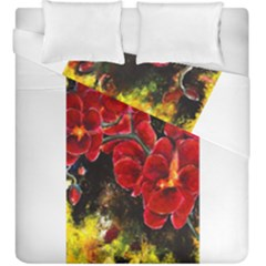 Red Orchids Duvet Cover (king Size) by timelessartoncanvas