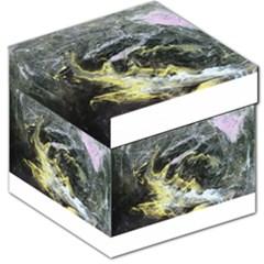Black Ice Storage Stool 12   by timelessartoncanvas